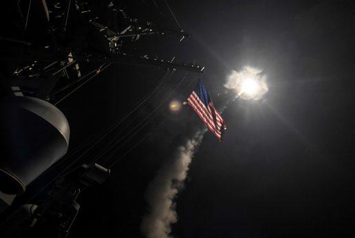 syrien, idlib, syrisk, syriske, idlib-provinsen, tomahawk-missiler, krydsermissiler, missiler, militær, krig, usa, syrien, bashar al-assad, rusland, flåde, angreb, giftgasangreb, giftangreb, borgerkrig, regime, straf