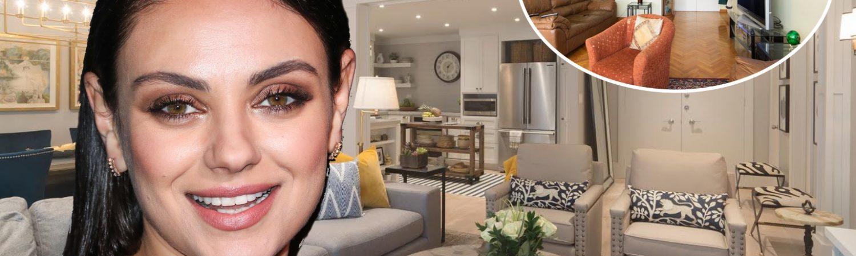 Mila Kunis, bolig, indretning, køkkenalrum