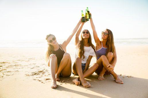 sol, sommer, piger