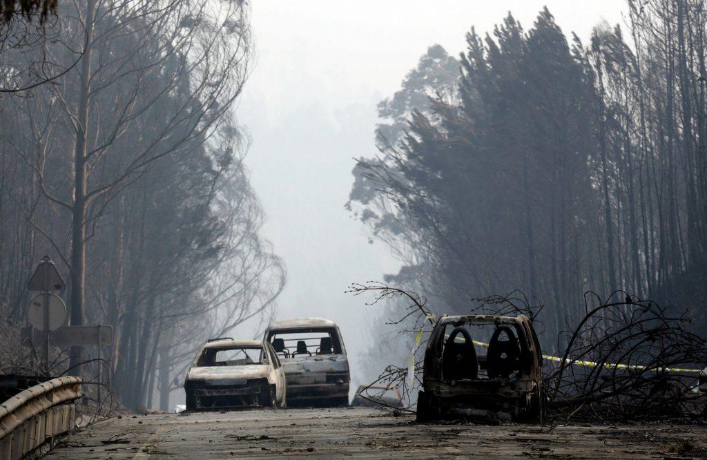 portugal, skovbrande, skovbrand, brand, ild, tørke, regn, lynnedslag, lyn, vejrfænomen, naturkatastrofe, døde, sårede, brandfolk, brandvæsen, vand, ildslukning