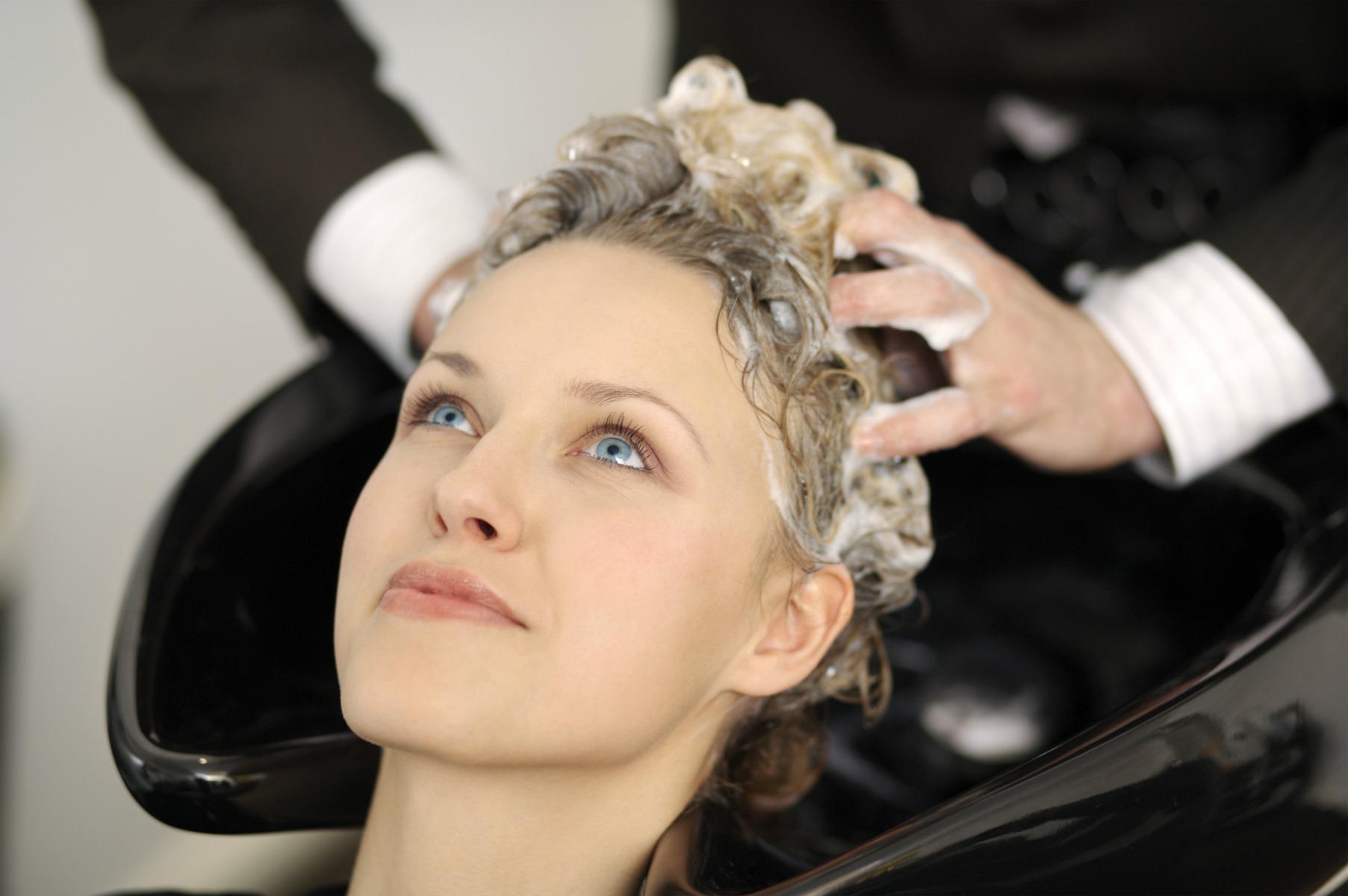 frisør, shampoo, hårvask, vaske hår