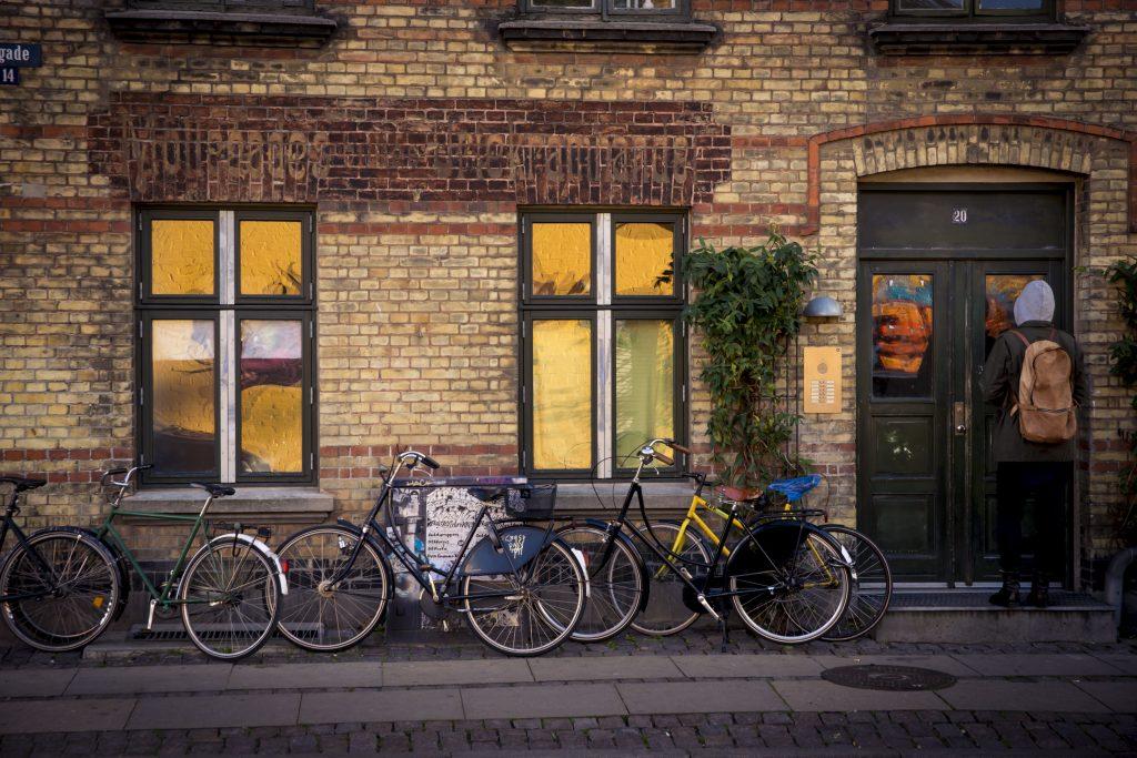 nørrebro, københavn, gade, spar penge, opsparing, gader, gade, udenfor, cykler