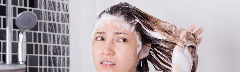 shampoo, shower, brusebad, bad, vaske hår, hårvask