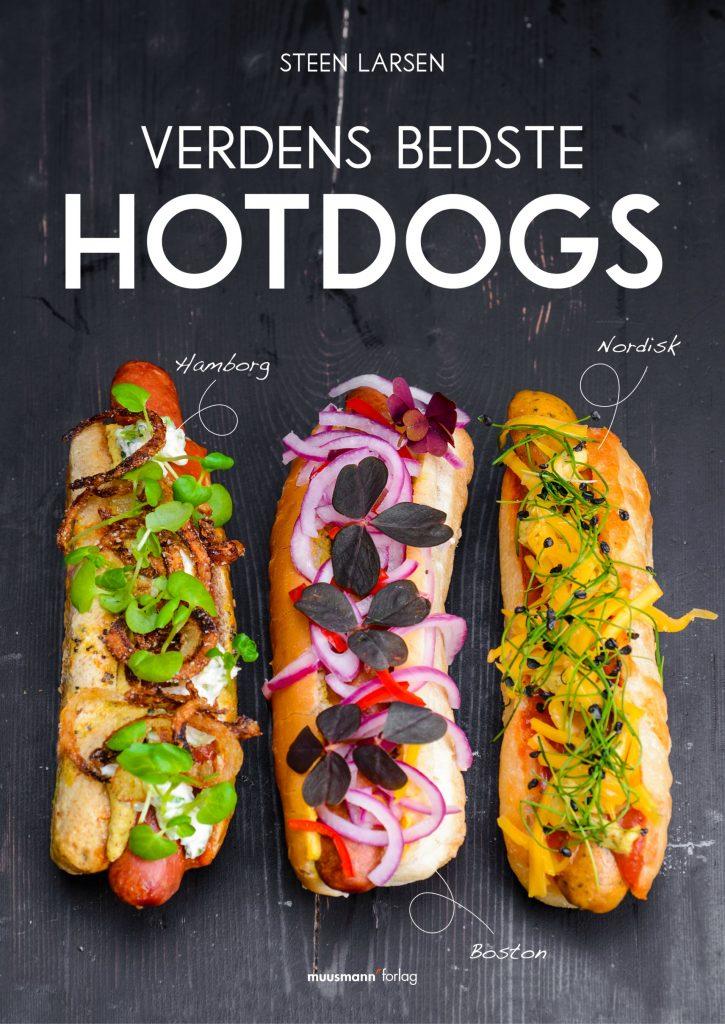 Hotdog forside, verdens bedste hotdog, bog, kogebog, opskrift, hamborg, karryketchup, kartoffelbrød