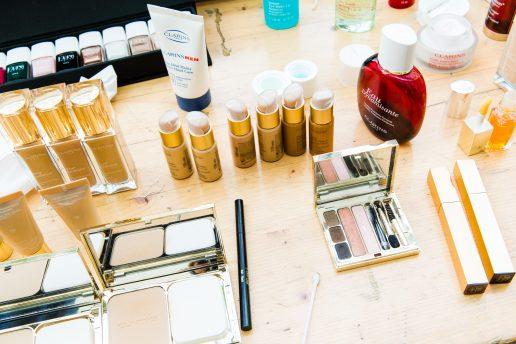 clarins, makeup, sminkebord, makeupbord