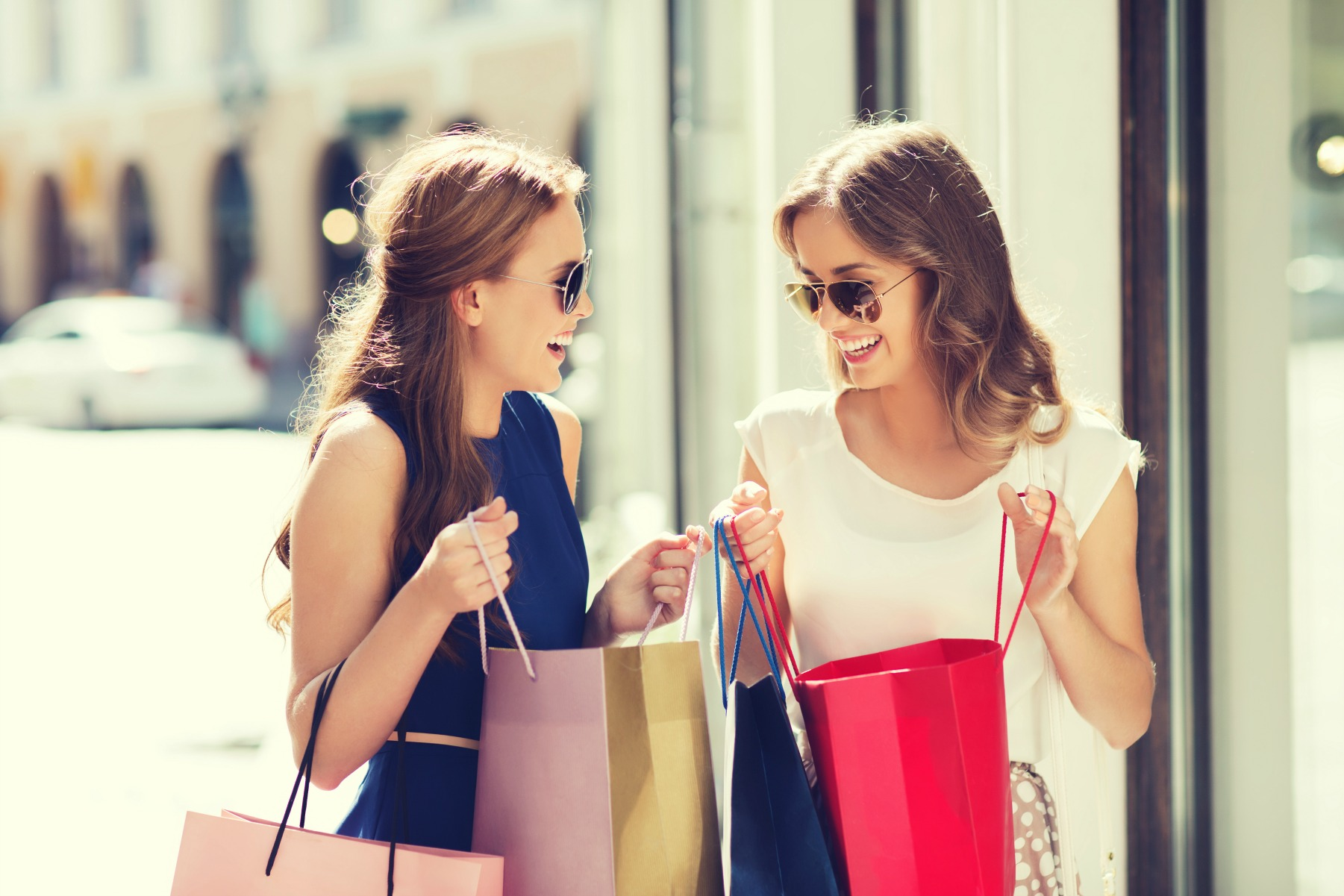 shopping, piger, veninder, shop,