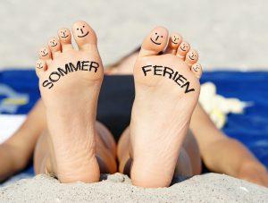 Sommerferie, afslapning, nydelse, sommer, sol, varme