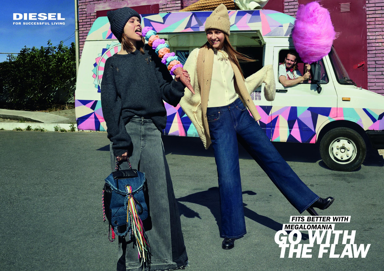 kampagne, diesel, #gowiththeflaw, kampagnebillede