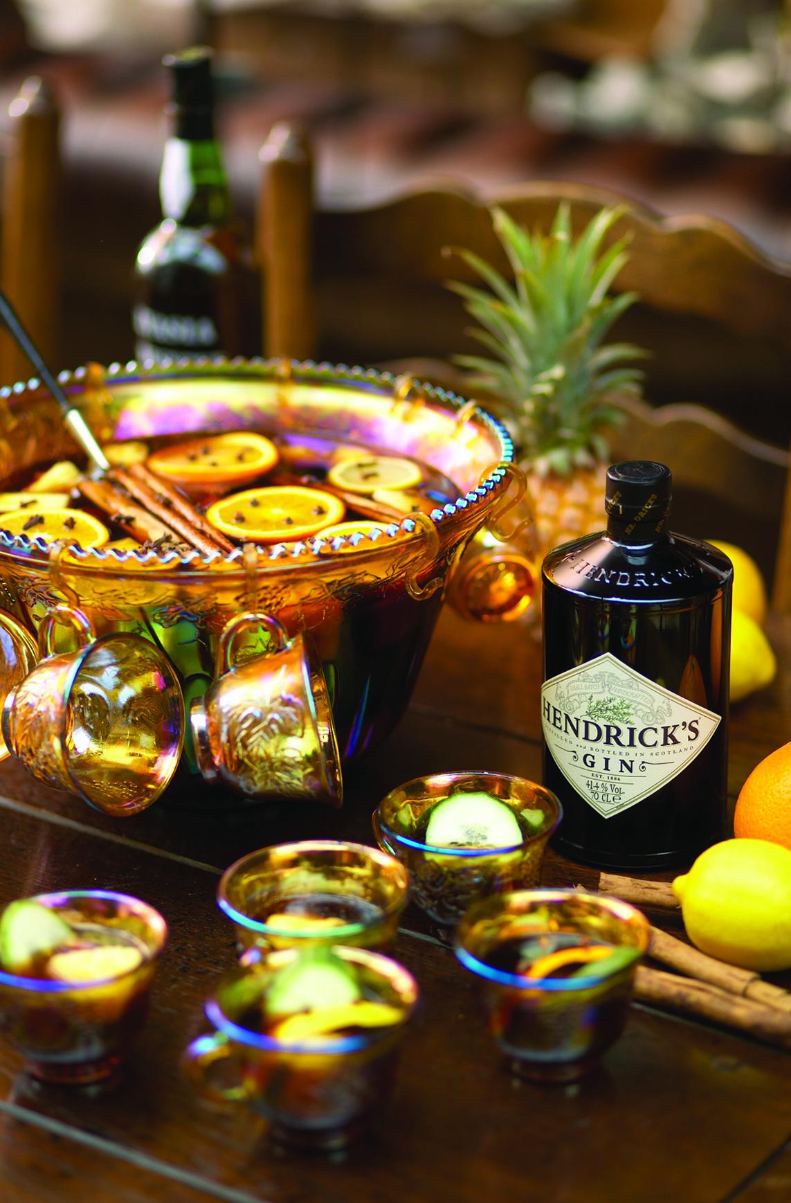 Hendrick's Gin Punch, gin-punch