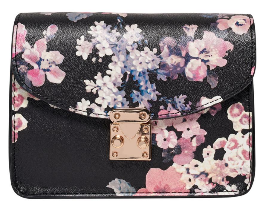 blomster, taske, skuldertaske, forår, mode, accessories