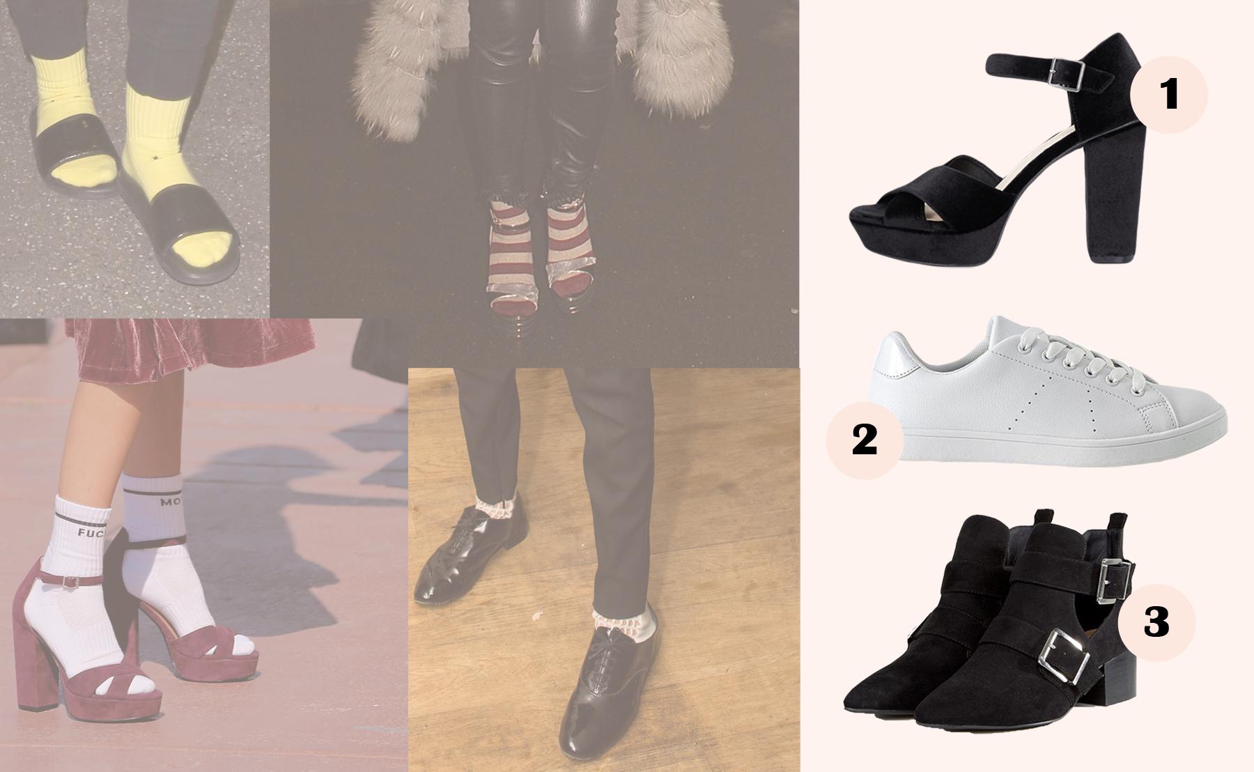 sko, højehæle, sneaks, sneakers, støvler, sokker