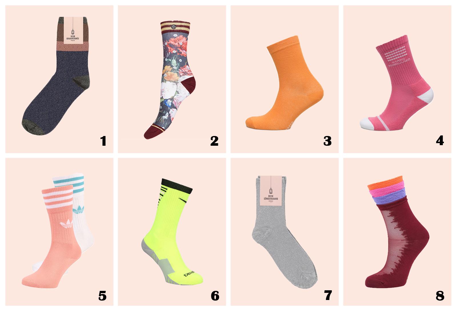 Sokker, tennis, glimmer, trend