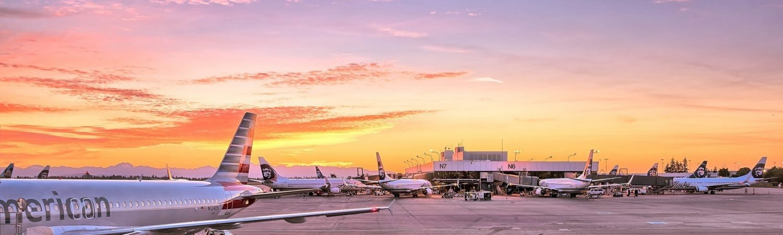 lufthavn, fly, grænsekontrol