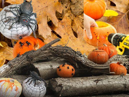 halloween græskar collage houzz