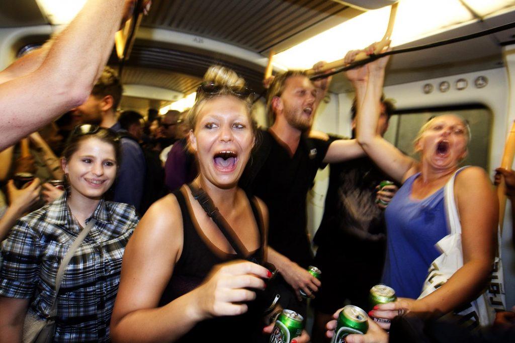 Festen i metroen er arrangeret af Strøm festival. (Foto: /ritzau/)