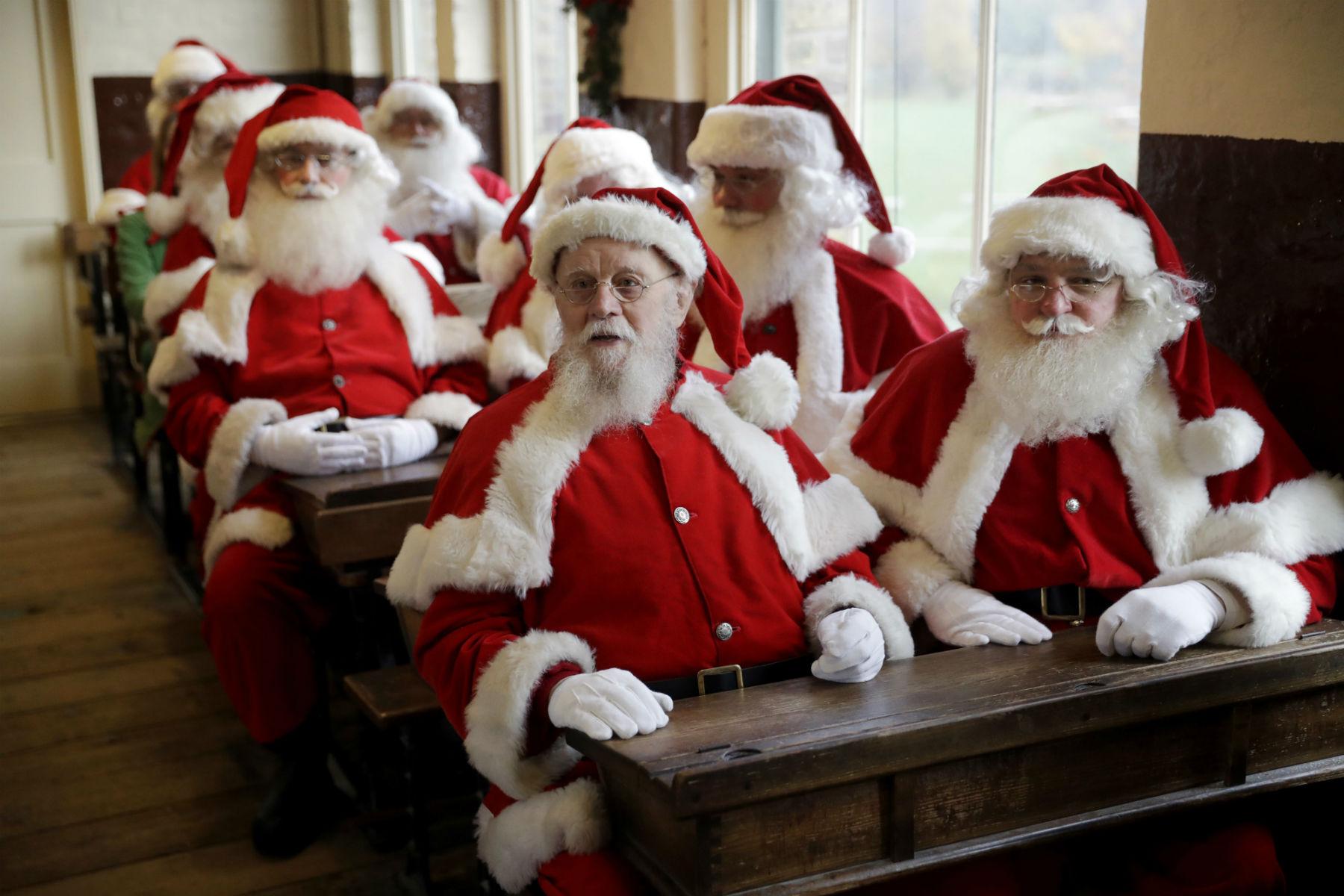 dagens billede, julemænd, skolebænk, juleskole, undervisning, julemand, jul