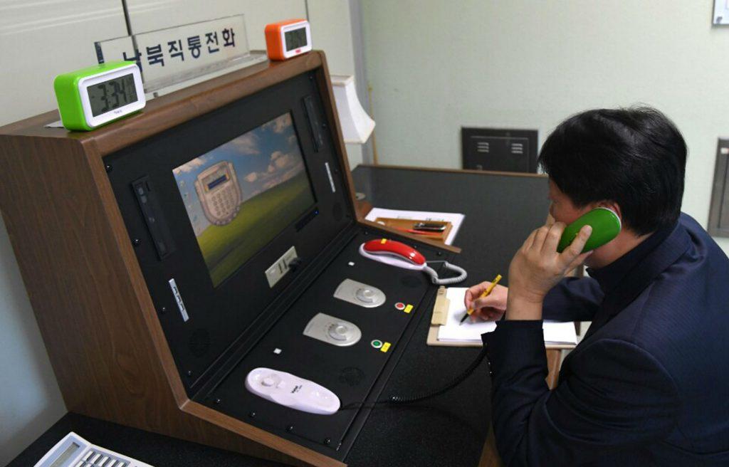 sydkorea, nordkorea, hotline, forhandling, dialog, kommunikation, vinter ol, olympiske lege