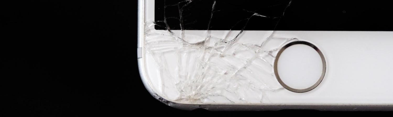 smadret skærm, iphone, broke, fattig