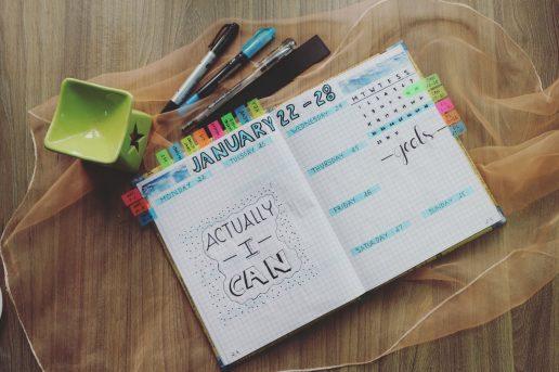 Få styr på hverdagen, bullet journal, dots, dotted paper, Få styr på hverdagen, kalender, diy, 2018, kreativ, dekorere