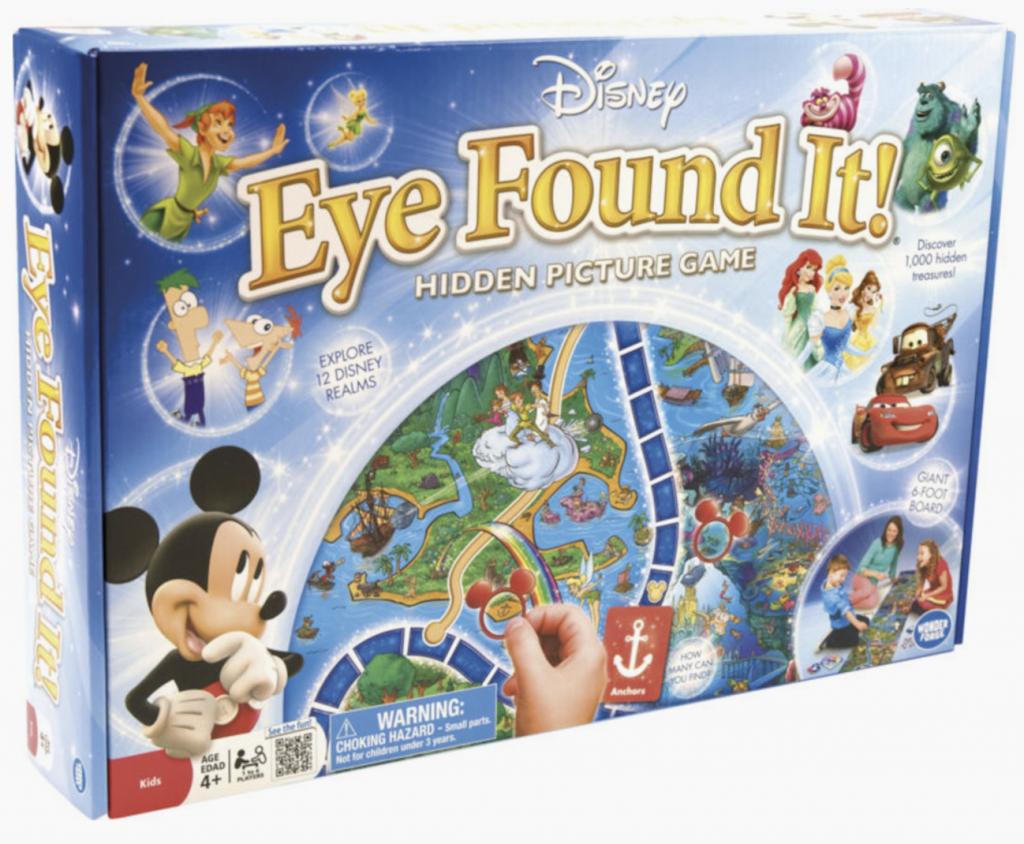 Disney, Disney-gaveidéer, gaveidéer, idéer, tegnefilm, animation, spil, brætspil, gaming, Eye Found It