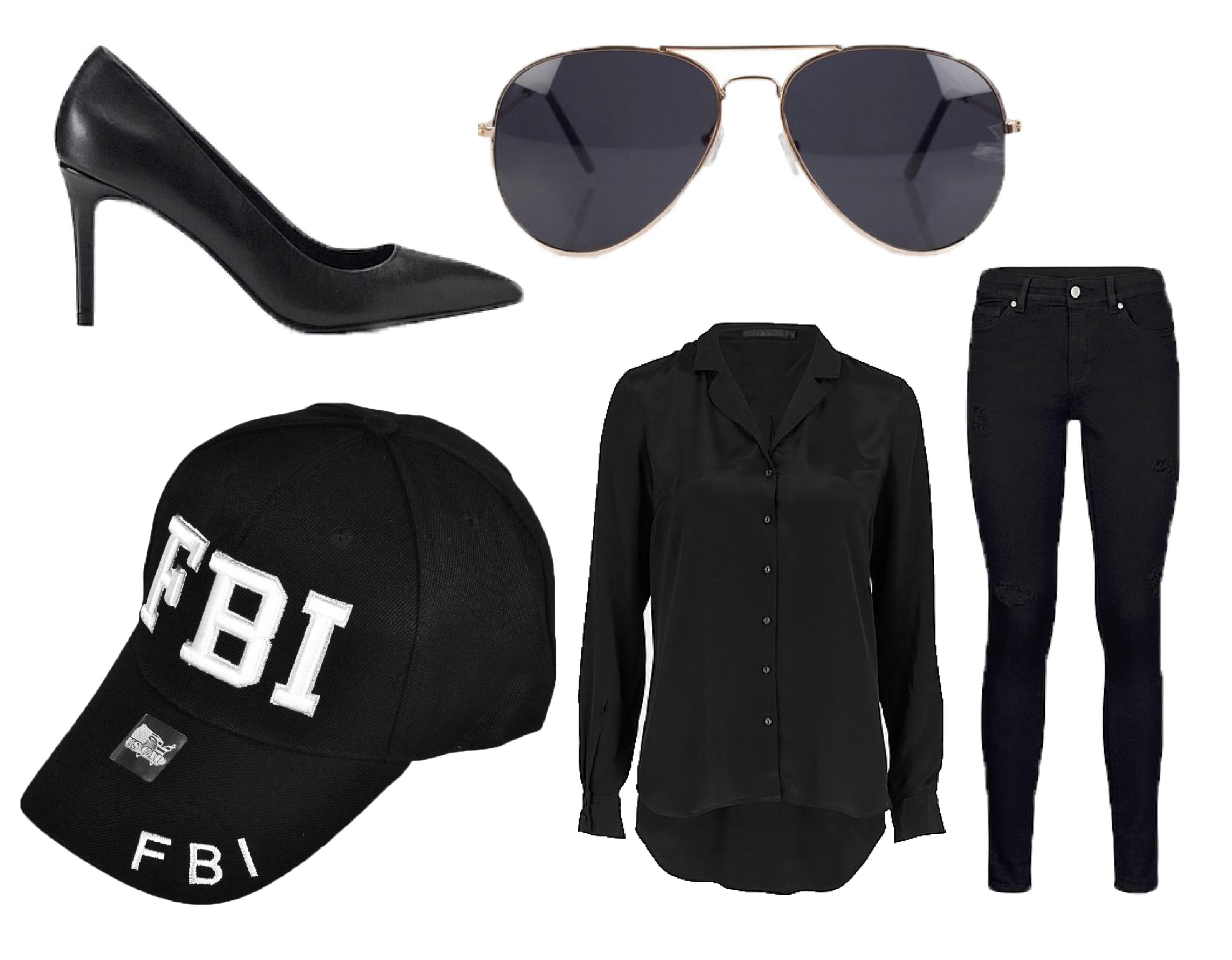 FBI, kostume, fastelavn, fastelavnskostume