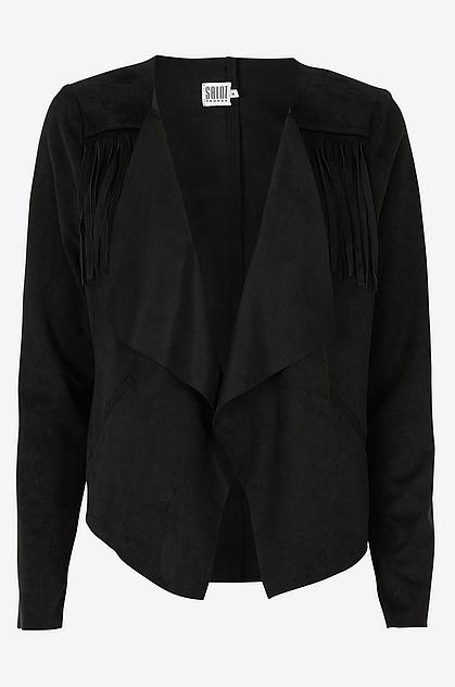 Frynser, jakke, skind, Ellos