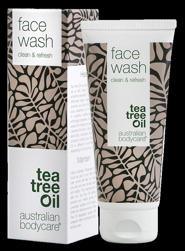 ansigstvask, Australian Bodycare, rens, uren hud, Tea Tree Oil