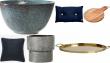 Bolig, indretning, skærebræt, bakke, pude, vase