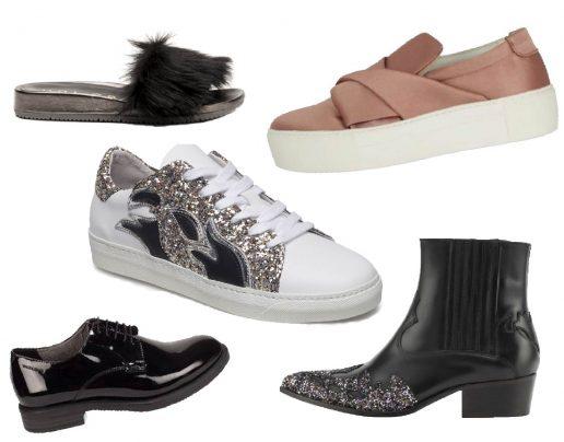 Sko, sneakers, flipflops, sandaler, laksko, støvler, forår, shopping, pels, glitter, bling, lak
