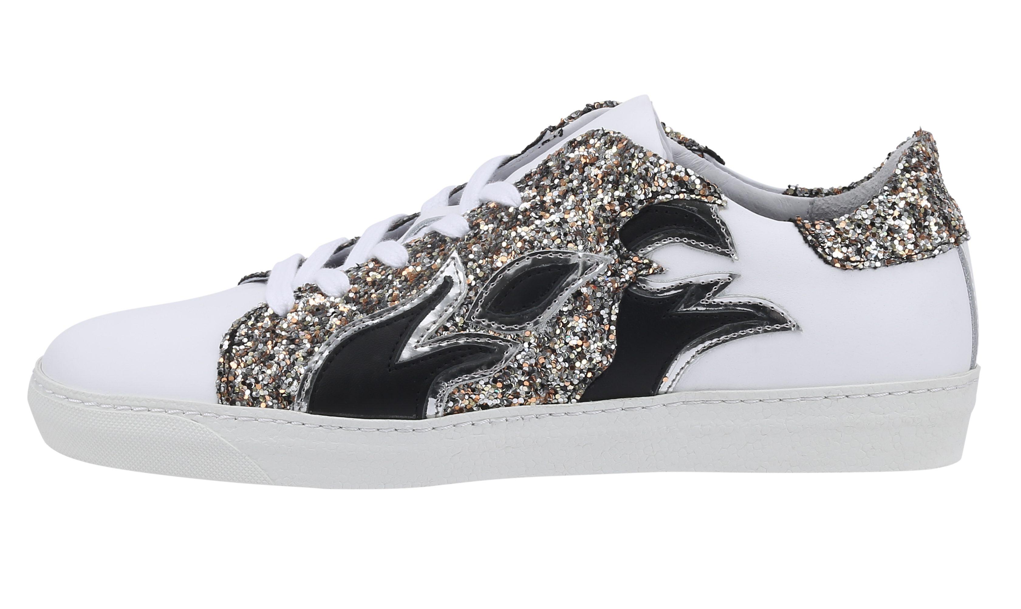 sko, sneakers, forårssko, mode, fashion, glitter, hvide, custommade, blitz pr