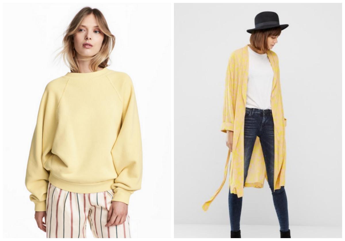 gul, mode, shopping, interiør, inspiration, trends, trøje, kimono