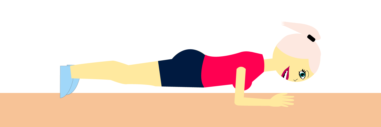 planke, planken, træning, lunges, træning, squat, træning, sund, sundhed, mds, pige, guide, øvelser, træningsøvelser, træningsprogram, lunges, håndvægte