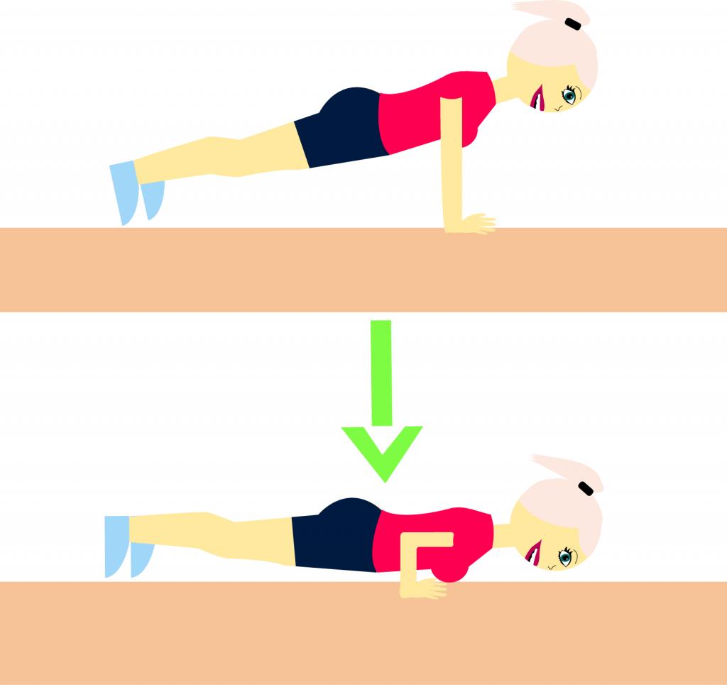 armbøjninger, crunches, lunges, træning, squat, træning, sund, sundhed, mds, pige, guide, øvelser, træningsøvelser, træningsprogram, lunges, håndvægte, mavebøjninger, mave, mavetræning, push-ups, armbøjninger, armtræning