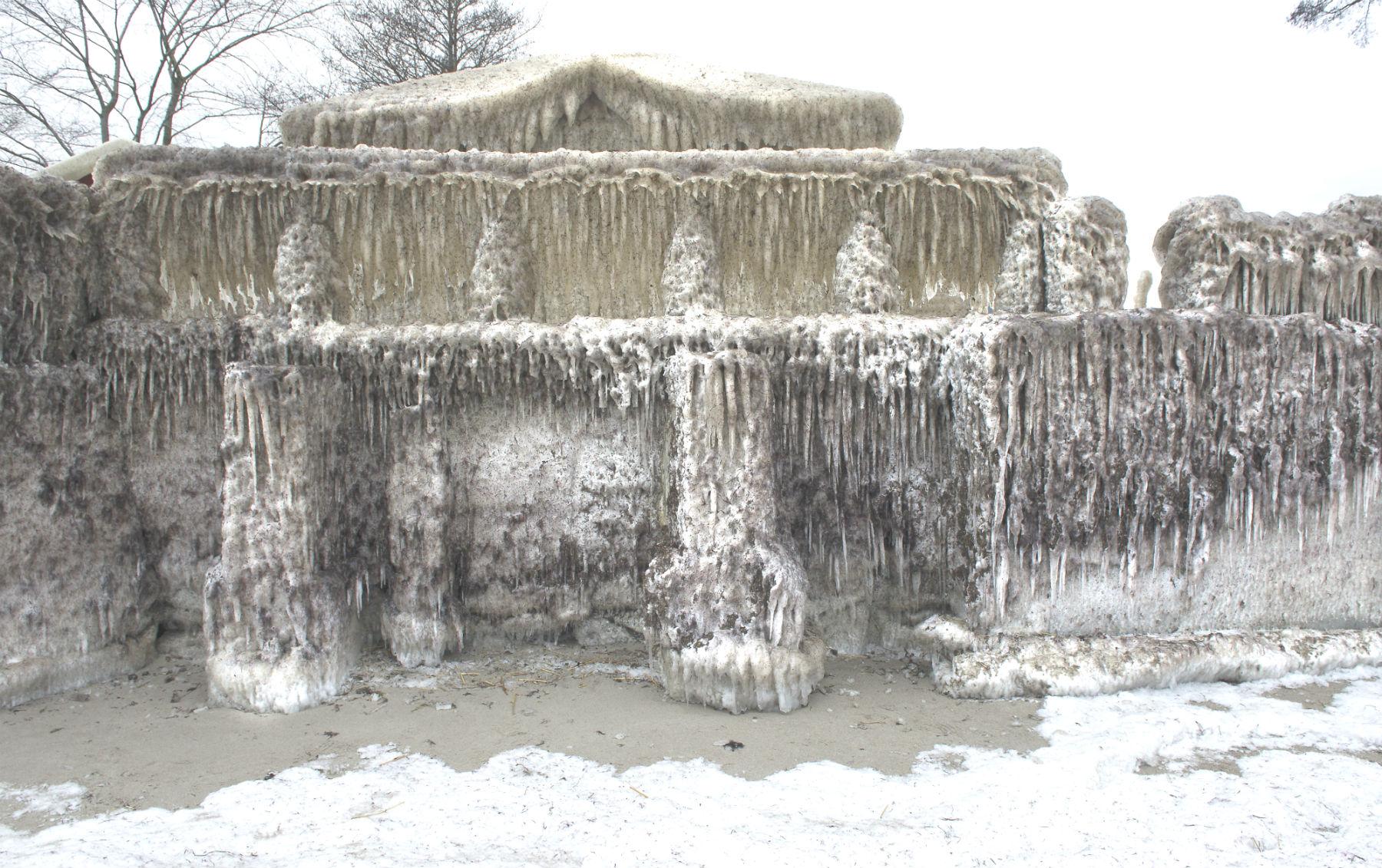 faxe ladeplads, frost, is, ishus, vejr, klima, vinter, forår
