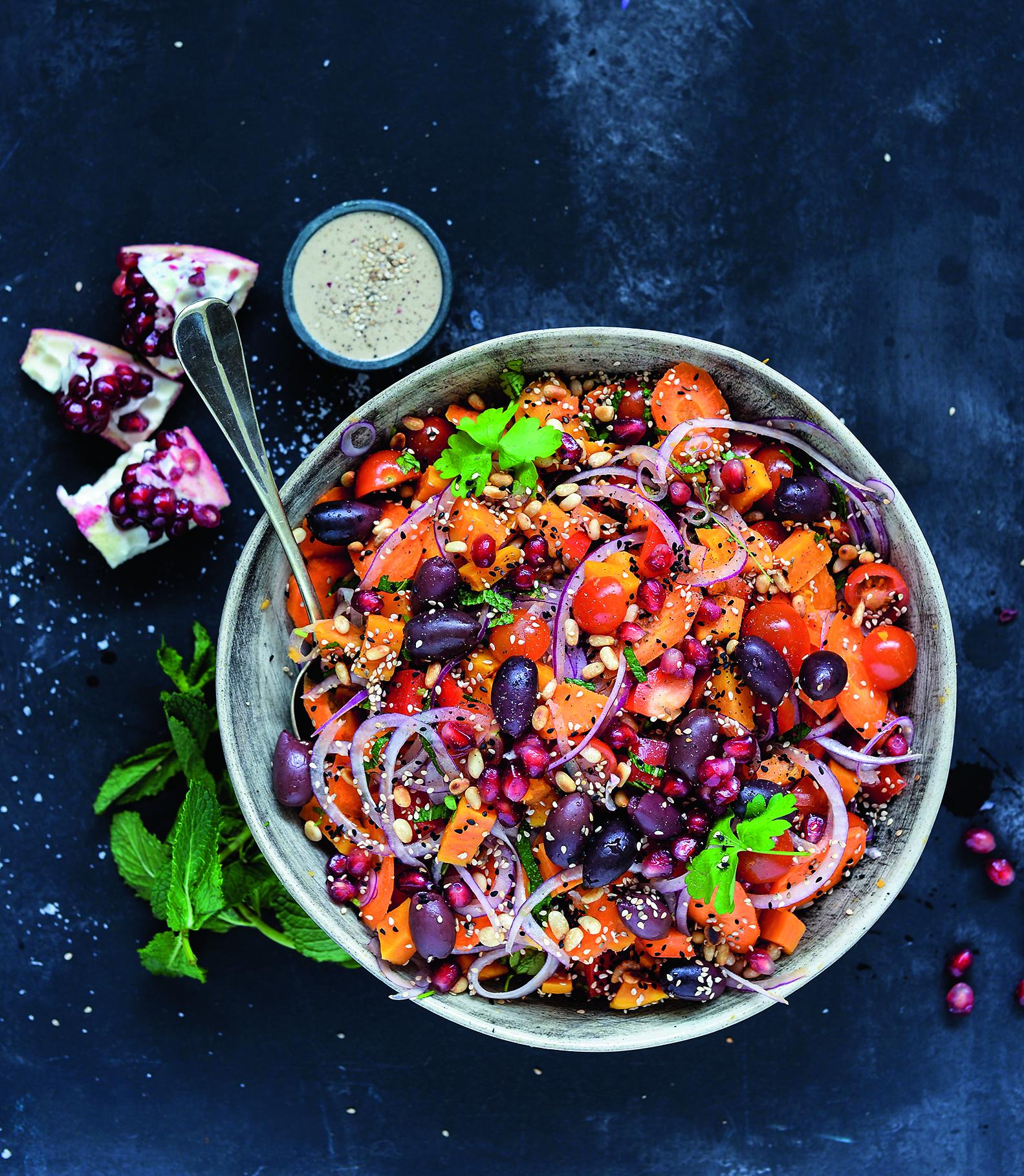 solskinssalat marokkansk sunde skåle bog