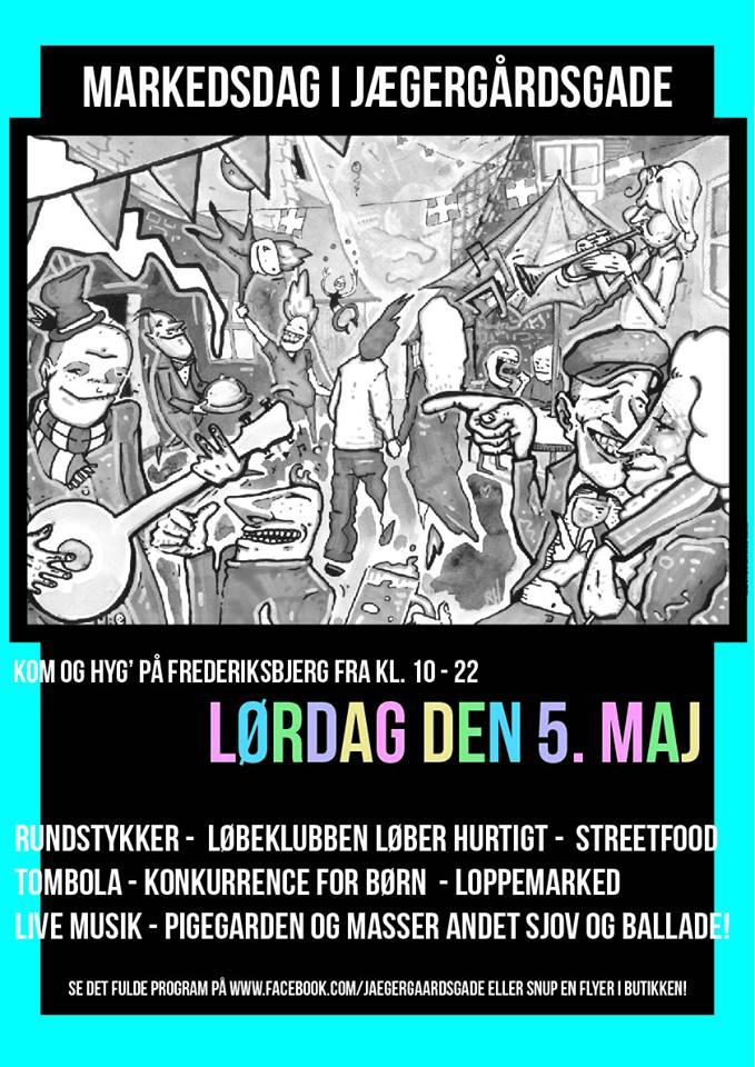 Markedsdag i Jægergårdsgade, kultur, kulturguide, aarhus, danmark