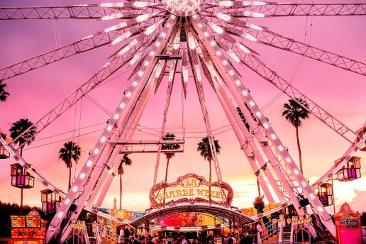 Coachella, festival, usa, californien, pariserhjul, forlystelse