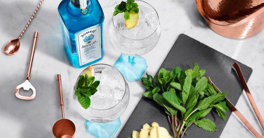 gin, tonic, bombay sapphire, opskrift, drinks, alkohol, gin & tonic