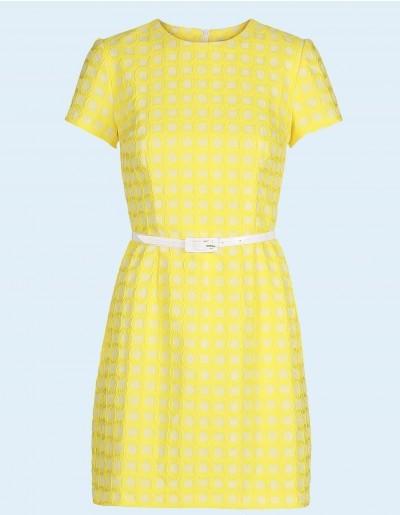 marmelade, kjole, dress, gul, yellow, fashion, mondokaos