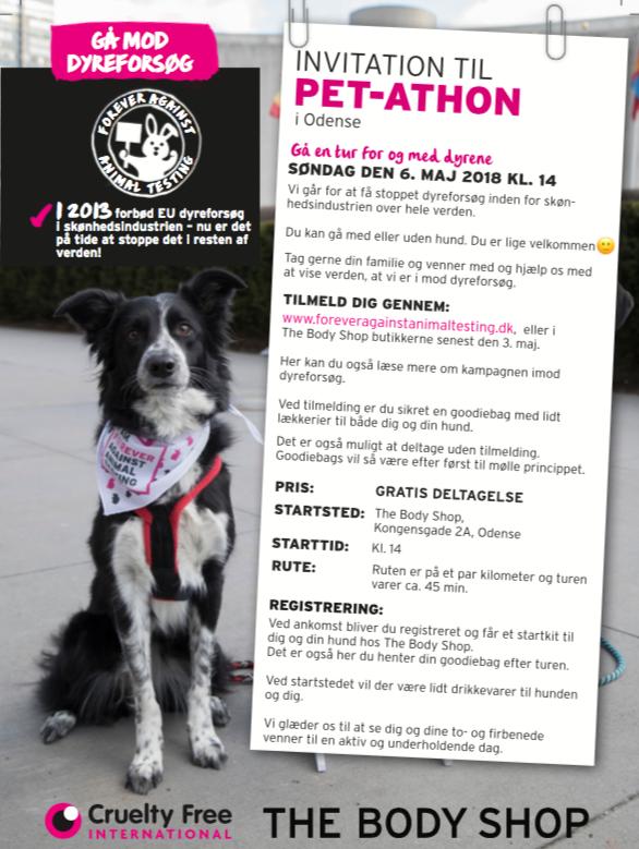 Pet-athon: Gå mod dyreforsøg