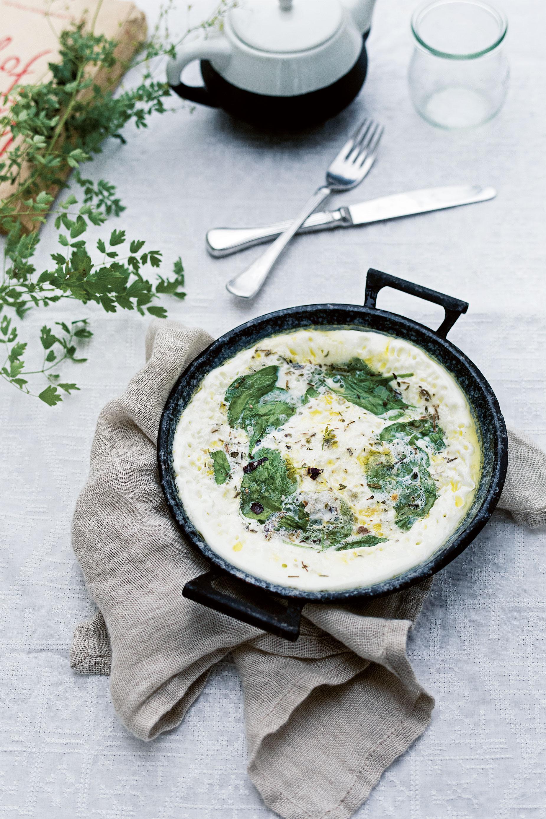 White-omelet nordisk middelhavskost omelet