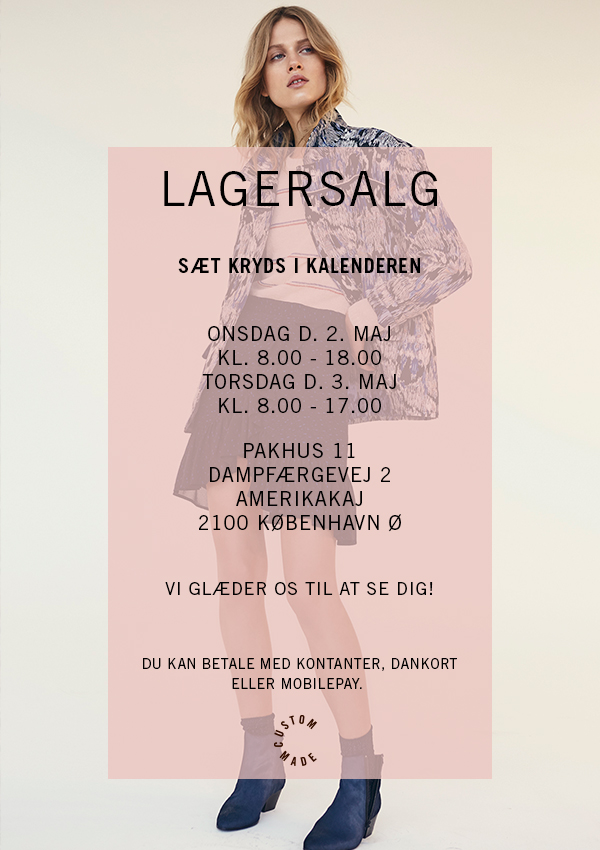 Custommade, LAGERSALG, shopping, mode, inspiration, fashion