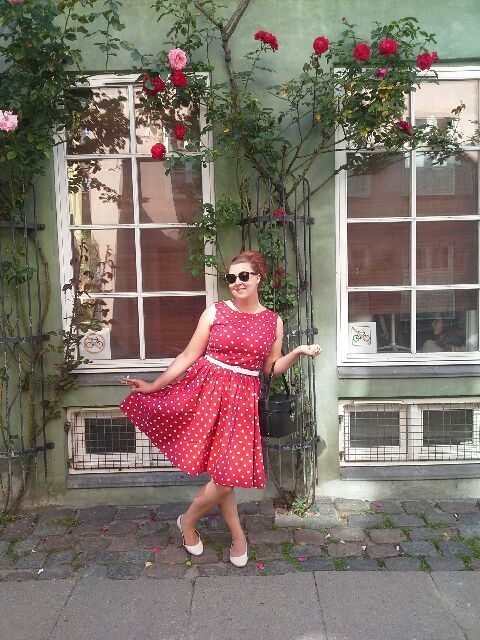 vintage, fashion, mode, polkaprikker, polkadots, retro