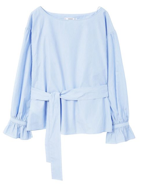 Pastelblå bluse, pastel