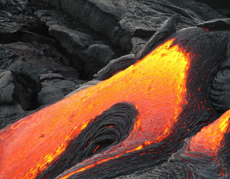 Lava, vulkan, vulkanudbrud