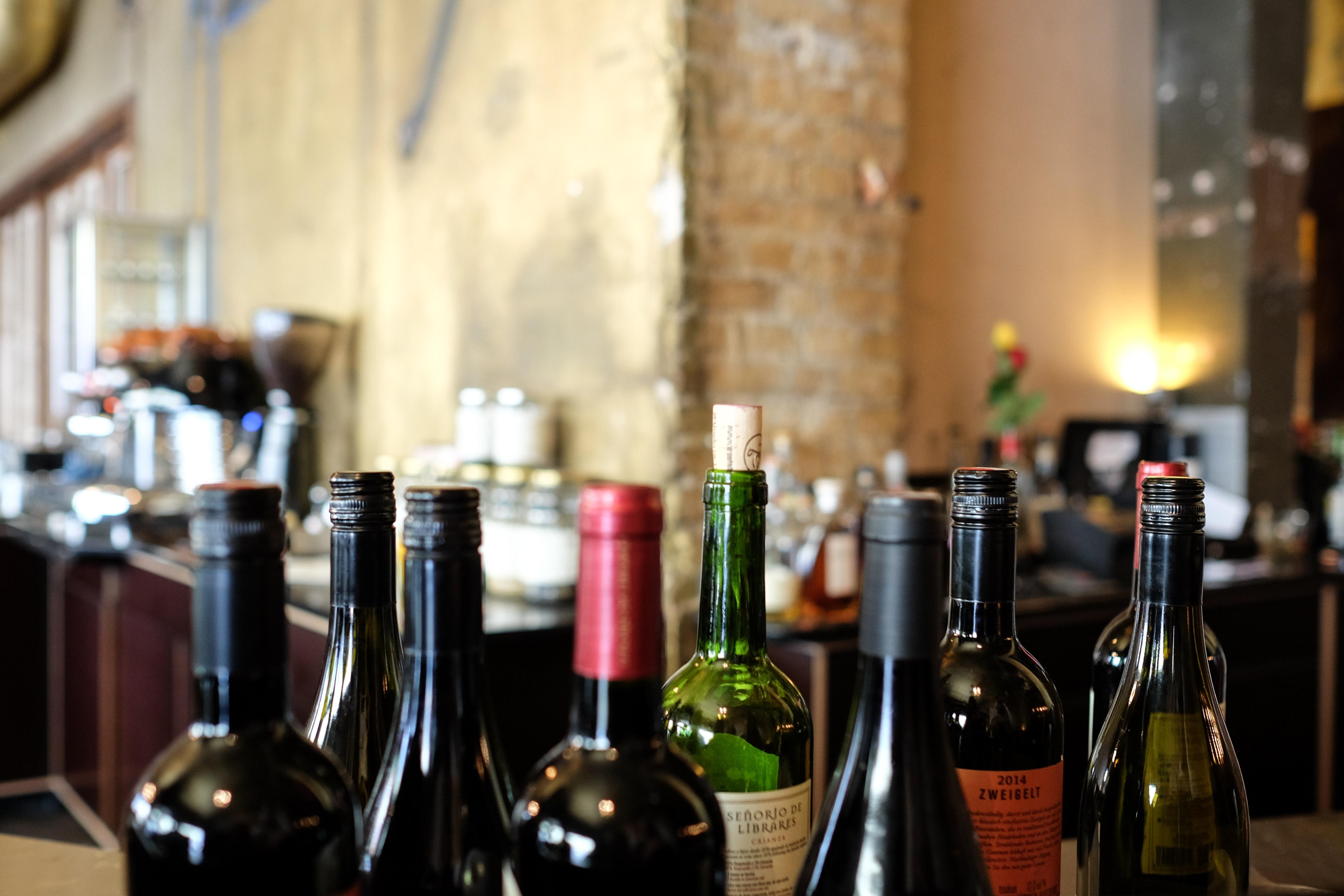 Rødvin, vin, flasker, alkohol