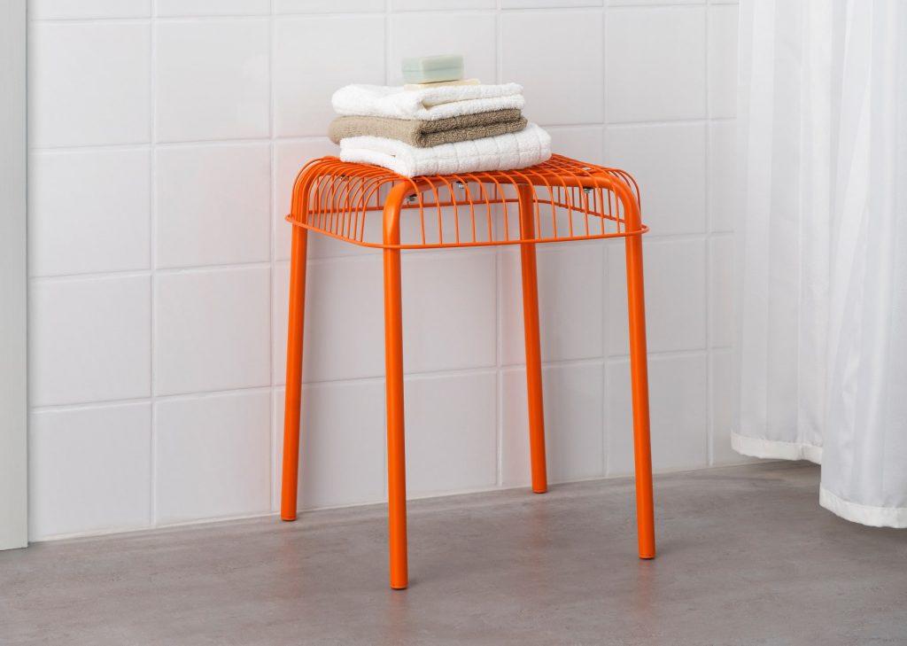 taburet orange ikea indretning lejlighed altan