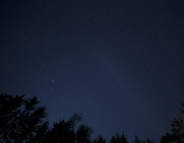 Nat, stjerner, måne, himmel