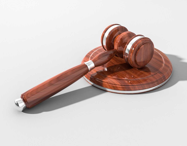 Dommer, dømt, hammer, sigtet, lov, politi, retten