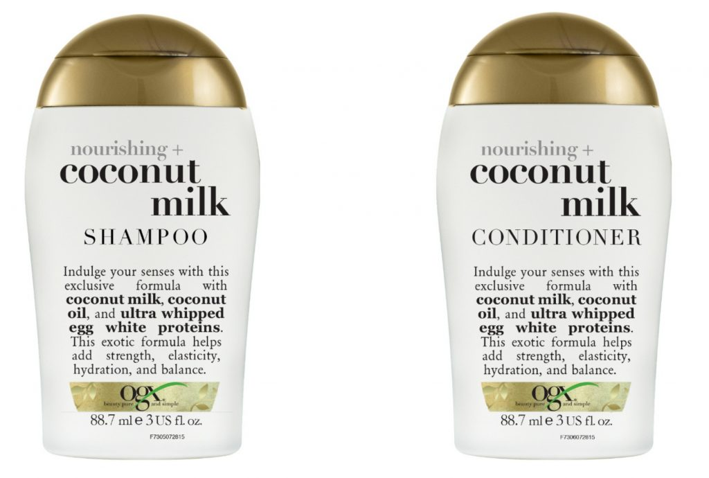 ogx kokos shampoo conditioner travel size